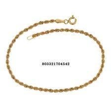 Bracciale oro Giallo 18 kt. maglia fune regalo donna matrimonio gioielli gr. 1.6