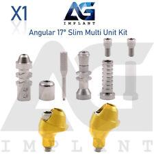 Angular Slim Multi Unit Abutment 17° Kit Dental Implant Internal Hex Titanium