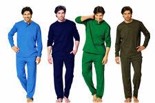 Herren Pyjama Schlafanzug 2-Teiler Oberteil + Hose  3-Knopf Leiste 3CROWNS NEU
