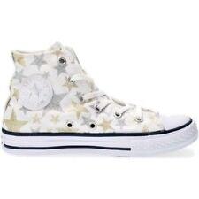 Scarpe Converse All Star 356838C Bambina Bianco Stelle Glitter Sneakers Alta