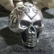 Totenkopf Silber Ring 925 Skull Biker Metal Gothic Celtic Wikinger Keltisch