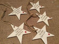 Estrella Colgante De Cerámica Decoraciones signo amo a la Luna amigo de árbol de Navidad