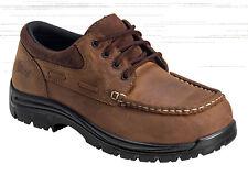 Nautilus Mens Composite Toe EH ECCO Leather Boat Moc W Brown Shoes