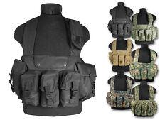 Mil-Tec Einsatzweste Chest Rigg 6 Pocket Taschenweste Taktikweste Weste