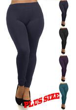 PLUS SIZE Fleece Lined Warm Comfy Footless Stretch Skinny Leggings O/S~2X/3X