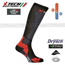 Calze Termiche XTECH Tecniche COMPRESSION X-TECH SPORT Made in Italy Socks Black