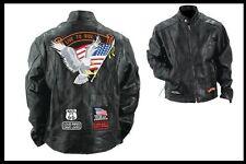 Mantel Jacke Lederjacke für Biker live zu ride - Größe S bis 4XL - neu