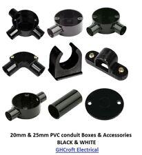 Conducto de PVC Cajas Y Accesorios - 20mm/25mm blanco y negro Comprar 2 1 @ 20% De Descuento