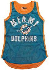 Miami Dolphins Tank Top Women's NFL Mesh Comeback Tank G-III Aqua