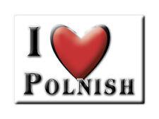 SOUVENIR UK - SCOTLAND FRIDGE MAGNET UNITED KINGDOM I LOVE POLNISH (HIGHLAND)