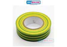 Vert Jaune électrique ruban isolant PVC 19mmx20m BS EN 60454 électrique Travail