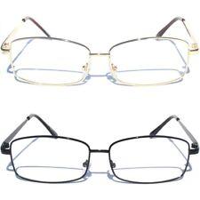 Medium Metal Front Clear Lens Eye Glasses Designer Style Fashion Eyewear New