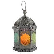 Orient LATERNE Windlicht orientalische Glaslaterne bunt indisches Teelicht FAIZA
