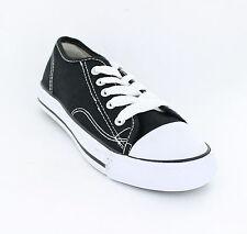 OFERTA Spot On x0001 men's Black De Lona Con Cordones Zapatillas Zapatos