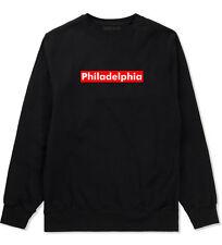 Philadelphia Pennsylvania Red Box Crewneck Sweatshirt