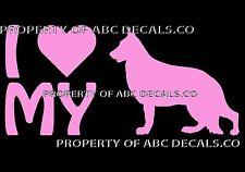 VRS LOVE My Dog GERMAN SHEPHERD Heart Adoption Shelter Rescue CAR VINYL DECAL