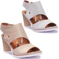 Justin Reece Peep Toe High Heel Leather Women Comfort Sandal Size UK 3 - 8