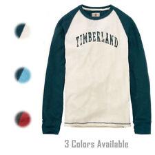 Timberland Men's Long Sleeve SLIM FIT Dyer River Lightweight Waffle Shirt 8204J
