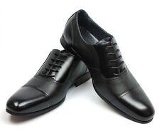 New Mens Ferro Aldo Black Dress Shoes Cap Toe Oxfords Lace Up19339 LeatherLining