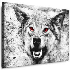 BILD WOLF WANDBILD XXL LEINWAND BILDER WOLFSATTACKE KUNSTDRUCK AUFGESPANNT 01a-2