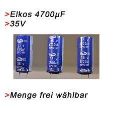 ELKO Kondensatoren 4700 µF 35V (BIS 35V) Elkos Elektrolytkondensator 4700µF uF