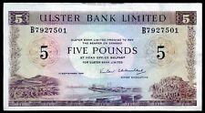 SCARCE ULSTER bank LTD Belfast £5 five pound banknote 1966 1971 1986 1993