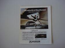 advertising Pubblicità 1969 AUTORADIO VOXSON SONAR