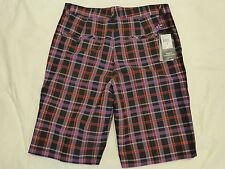 Nwt Mens Adidas Golf Shorts Stretch $70 Tm6100S3 Black/Grape Plaid