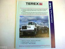 Terex Articulated Ta40 Truck Literature