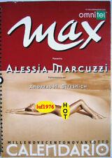 Calendar sexy-ALESSIA MARCUZZI nude-Calendario MAX 1998