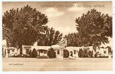 1950 LAS VEGAS Nevada GATEWAY AUTO COURT US Hwy 91 Photo Advertising Postcard