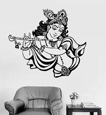 Vinyl Wall Decal Krishna Hinduism God India Hindu Stickers Mural (ig3789)