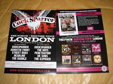 MUSIC FLYER - COCKSPARRER - THE FORUM LONDON MARCH 2010