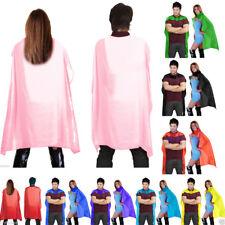 """Mens Ladies UniSex Deluxe Satin 24"""" 38"""" 48"""" Cape Hen Do Fancy Dress Super hero"""