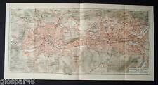 1890.Antica Topografica_ELBERFELD - BARMEN.RENANIA DE..