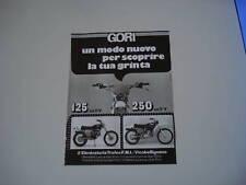 advertising Pubblicità 1976 MOTO GORI 125/250