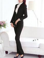 Traje conjunto de mujer negro anorak manga larga y pantalones S 38 40