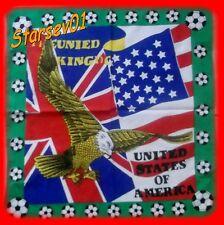 BANDANA BANDEAU FOULARD FOOT UNITED STATES OF AMERICA AIGLE 55 CM / 55 CM