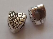 5/10/15 Herz Beads Großloch Perlen Paracord Lanyard Armband Großlochperlen H03