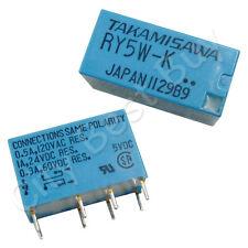 2 x RY5W-K DC5V AC120V Power Relay 8 Pin DPDT Signal Audio TAKAMISAWA FUJITSU
