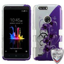 Purple Flower Garden Military Grade Dual Layer Cover Phone Case ZTE Blade Z Max