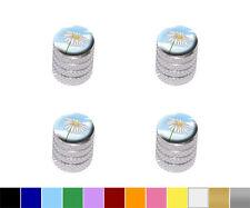 White Daisy on Blue Sky - Flower - Tire Rim Wheel Aluminum Valve Stem Caps
