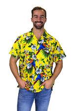 Funky Chemise Hawaii Cherry Parrot Jaune