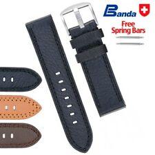 Banda Premium Grade German Soft Buffalo Leather Watch Bands, Size18-24mm - NEW