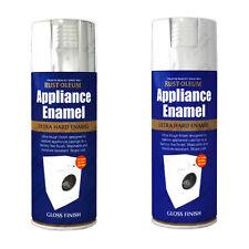 Rust-Oleum Dispositivo Smaltata Spray Vernice Spray Bianco Lucido Acciaio Inox