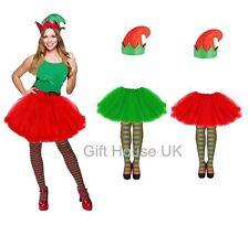 Ladies Girls Style Adult Christmas Party Set ELF TUTU COSTUME Fancy Skirt Dress