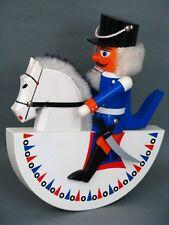 Erzgebirge Figur Nußknacker auf einem Schaukelpferd Figure Figurine um 1979