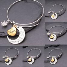 Women I Love You To The Moon & Back Crystal Family Bracelet For Women Girl Gift