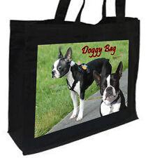 Boston Terrier Dog, Cotton Shopping Bag - Choice of Colours, Black, Cream,