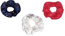 Hair Scrunchie Metallic Panne Velvet Tie Ponytail Holder Scrunchies by Sherry